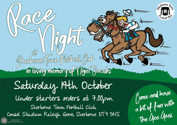 Race Night 19th October 7pm